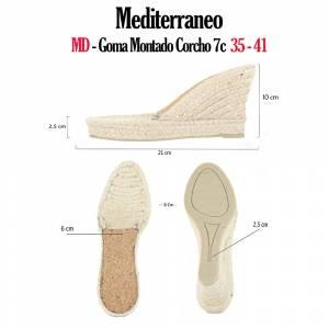 6. Suela Goma Montado - GM_GM TORCIDA Corcho 7Cuerd + 3Cm