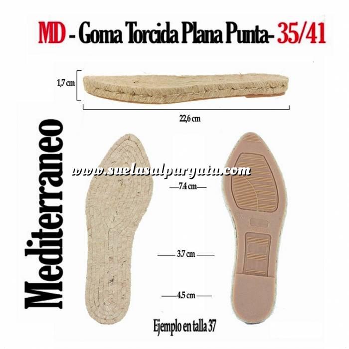 Imagen GP TORCIDA Mod Punta_T35-41 MD Suela Goma Plana Torcida Punta T-36
