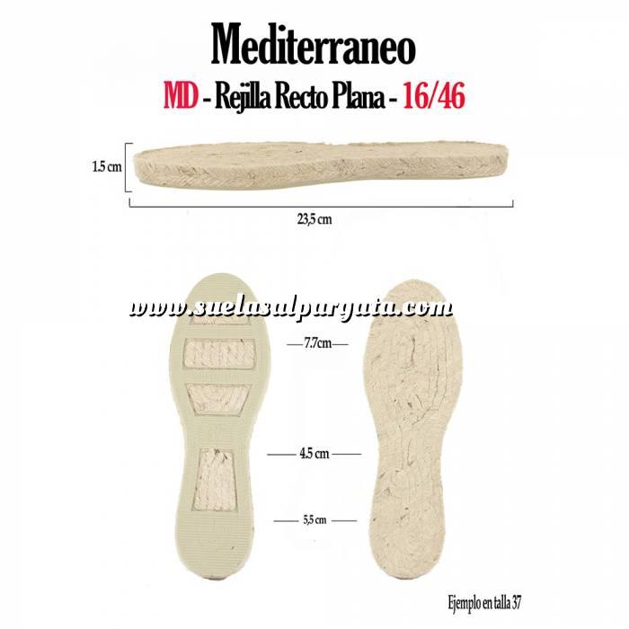 Imagen Mediterráneo MD Suela Rejilla Plana Recta Clasica T-41