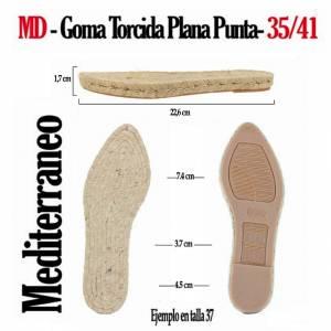 2. Suela Goma Plana - GP_GP TORCIDA Mod Punta_T35-41