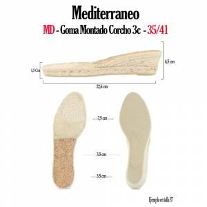 6. Suela Goma Montado - GM_GM TORCIDA Corcho 3Cuerd + 2Cm